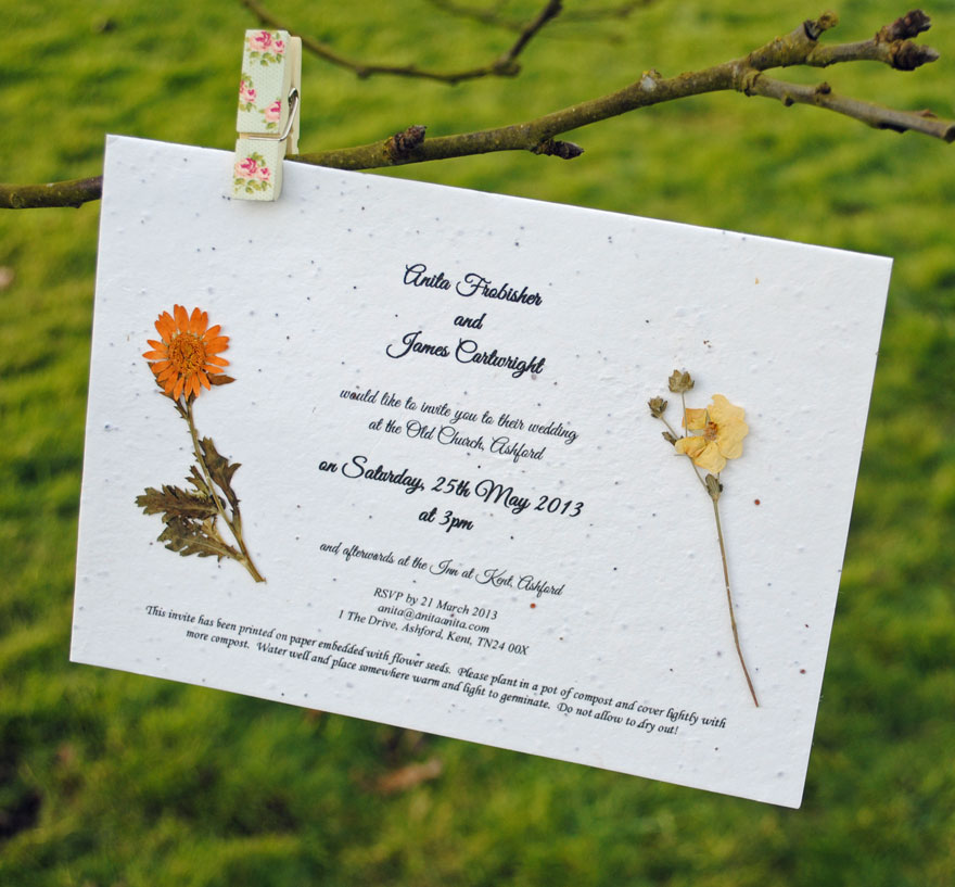Vintage, Unique & Eco-Friendly Wedding Stationery