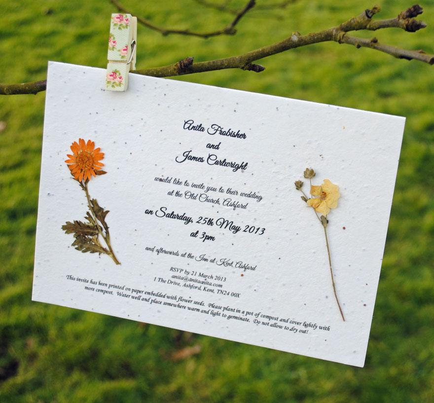 Vintage, Unique & Eco-Friendly Wedding Stationery