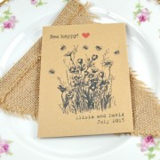 Bee happy! recycled seed packet wedding favour