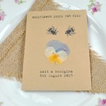 Pressed flower recycled seed packet wedding favour