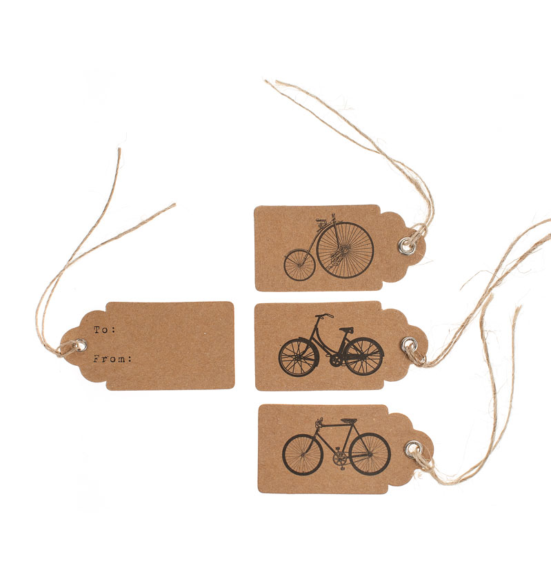 Bike design wedding tags