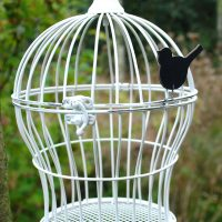 Vintage-style metal bird cage