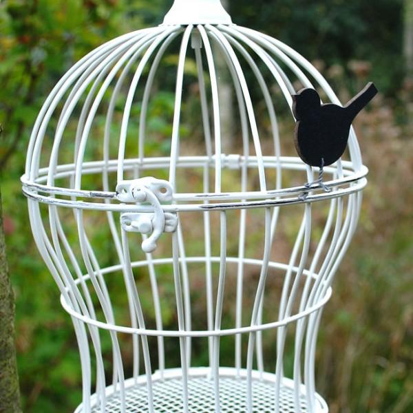 Vintage-style metal bird cage