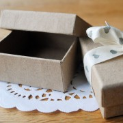 Recycled wedding favour boxes