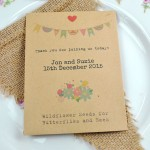 Butterflies, bees & bunting recycled seed packet wedding favour