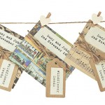 Handmade wildflower seed packet, dark colours
