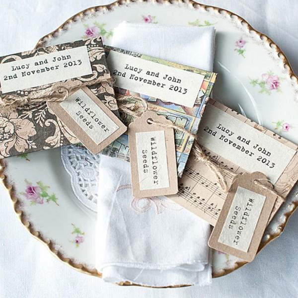 Handmade wildflower seed packet