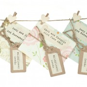 Handmade wildflower seed packet, light colours