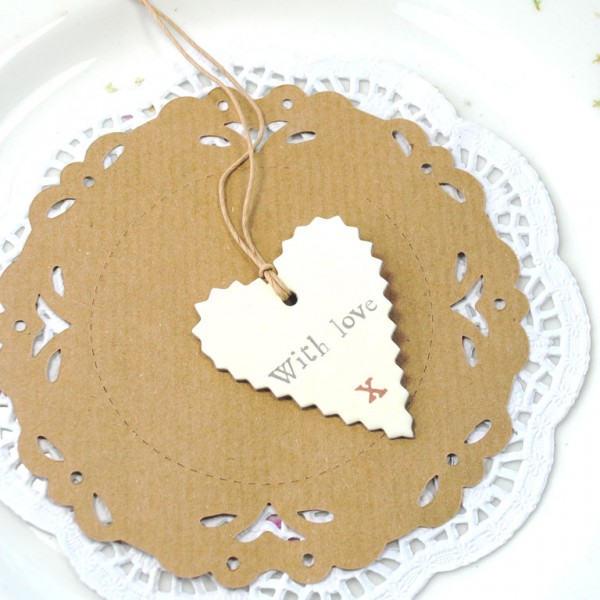 With Love heart tag