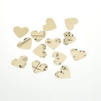 vintage music table confetti