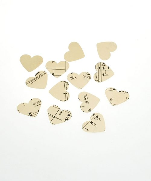 vintage music table confetti