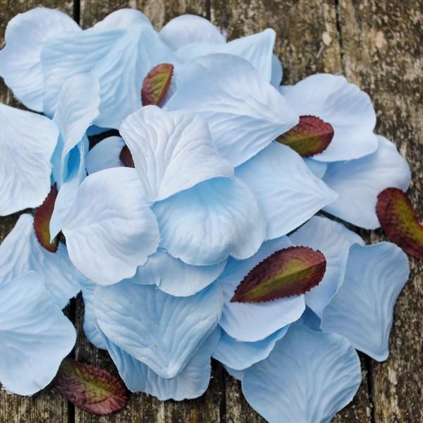 Blue fabric petals