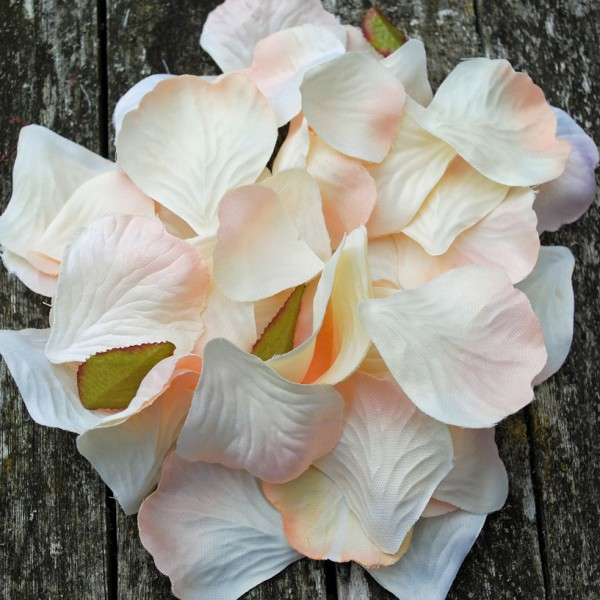 Peach fabric petals