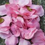 Pink fabric petals