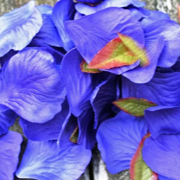 Purple fabric petals