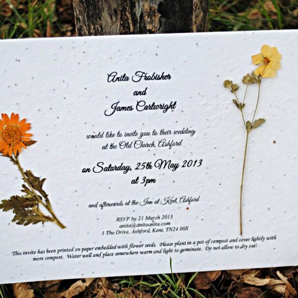 Printed plantable flower seed paper