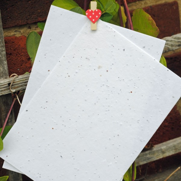 Plantable flower seed paper