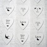 Vintage style wedding stickers