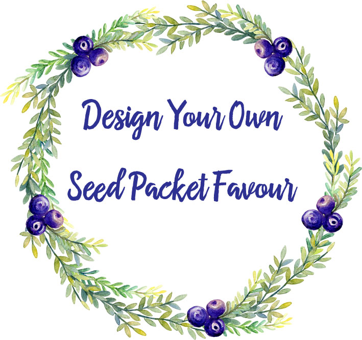 Design your own seed packet wedding favour