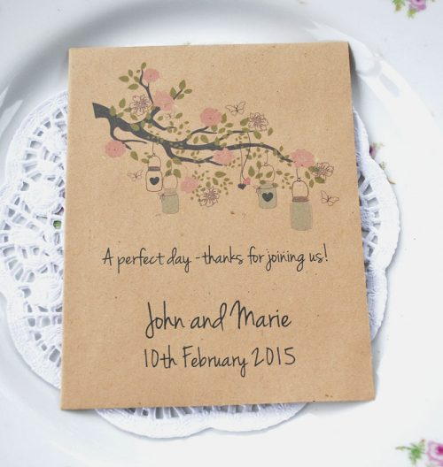 Perfect Day recycled seed packet wedding favour