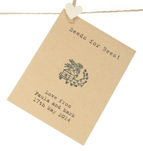 Seeds for bees wedding favour