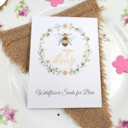 Bee seeds wedding favour