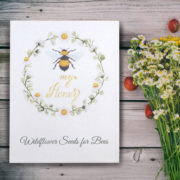 Bee My Honey wildflower seed packet wedding favour