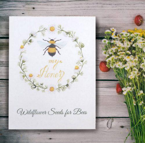 Bee My Honey wildflower seed packet wedding favour