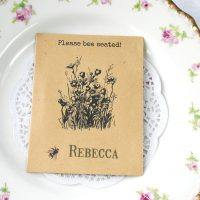 Please bee seated recycled seed packet