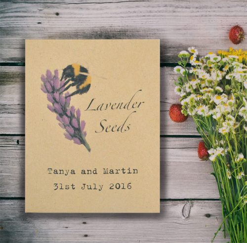 Lavender seeds for bees wedding favour