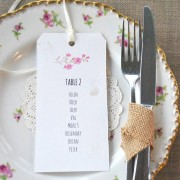 Blossom table plan tag