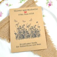 Recycled wildflower seeds for butterflies and bees wedding favour