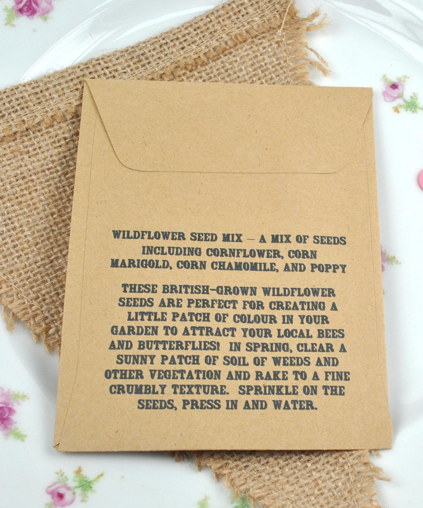 Flower Seeds Wedding Favors Giftwedding