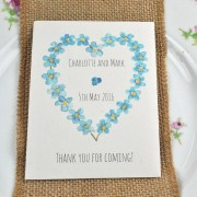 Seed packet Save the Date with Forget-me-not seeds
