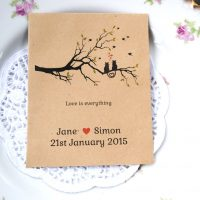 Love cats recycled seed packet wedding favour