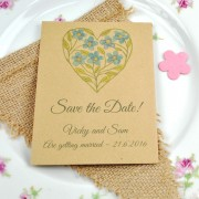 Save the date packet of seeds