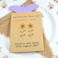 Let the sun shine wedding favour seed packet