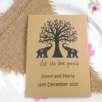 Elephants recycled seed packet wedding favour
