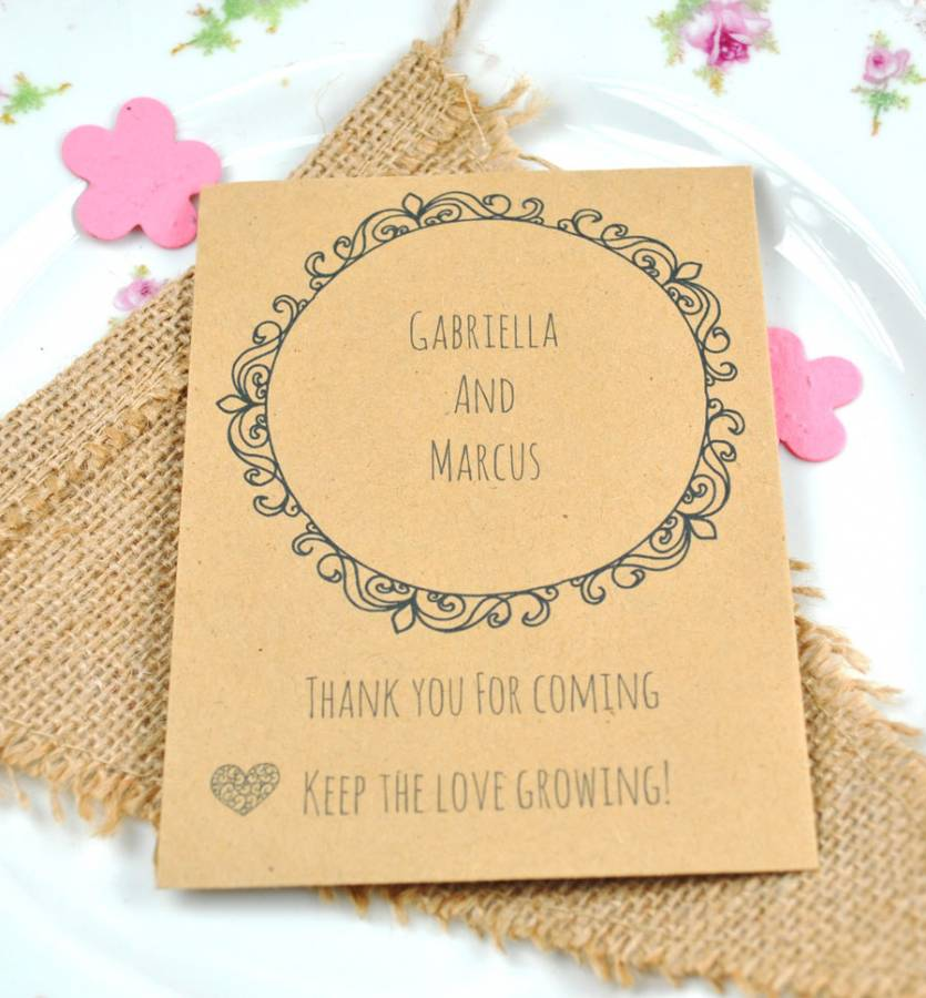 Love In A Mist Seeds Seed Wedding Favour Wedding Favours