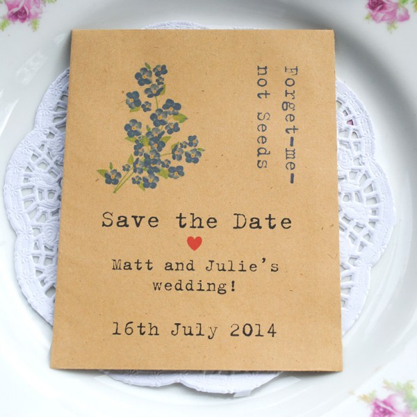 Save the date seed packet