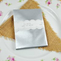 Silver wedding favour