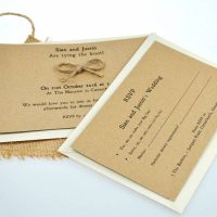 Recycled Tie the Knot invite set