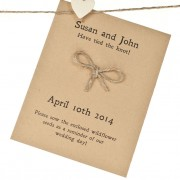Tie the knot recycled seed packet wedding favour