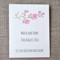 Recycled seed packet wedding favour
