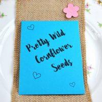 Cornflower seeds wedding favour