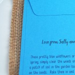 Cornflower seeds wedding favour sowing instructions