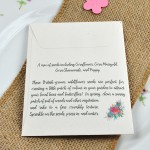 Floral wedding favour sowing instructions