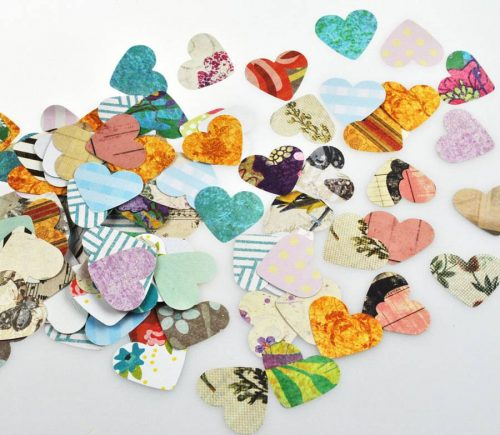 Heart table confetti sprinkles
