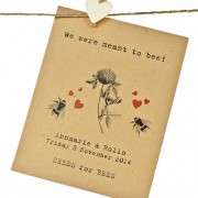 Meant to bee seed packet wedding favour