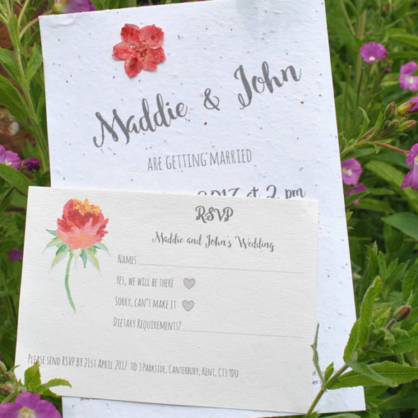 Seed paper invite set